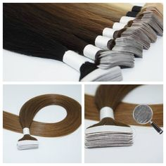 """Seamless Tape Dark Brown #2 Indian Remy Human Hair Extensions 50g 20"""" NR #Tape"""
