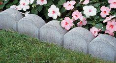 deco jardin plantes bordure béton