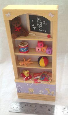 DOLLS House Miniatures  Girls toy shelf by LittleHouseAtPriory