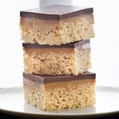 chocolate, carmel peanut butter rice krispies treats!!!!!