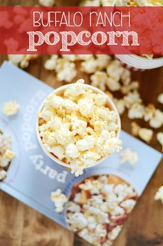 This Buffalo Ranch Popcorn is so good, it was featured in O Magazine! #loveyourveggies #ad