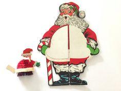 Vintage Die Cut Santa Claus Honeycomb Tissue Paper by NeatoKeen