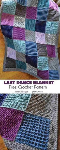 Crochet afghans 324540716896233597 - Couverture patchwork points Source by frenchgirlnl Crochet Motifs, Granny Square Crochet Pattern, Crochet Afghans, Easy Crochet, Crochet Shawl, Crochet Baby, Crochet Pillow, Crochet Bobble Blanket Pattern, Free Crochet Square