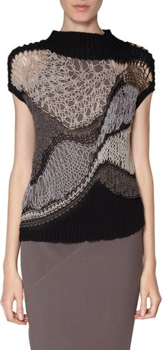 Rick Owens Crochet Sweater at Barneys.com