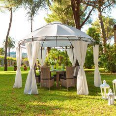 Toile Pergola, Round Gazebo, Design Jardin, Backyard, Patio, Outdoor Structures, Leclerc, Chic, Wedding