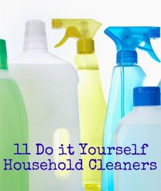 DIY household cleaners are becoming more and more popular because people are learning about the negative side effects of using harsh chemicals in the house. There are many ways to create your own household cleaners! Vinegar! Many use equal parts ...