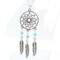 Fashion Retro Jewelry Dream Catcher Pendant Chain Necklace