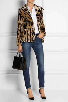5c02b04b5a0b49 MICHAEL Michael Kors - Leopard-print faux fur coat