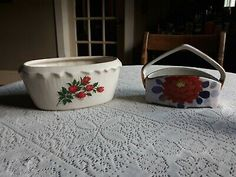 """<p dir=""""ltr"""">Vintage Ceramic Planters.<br> Condition is Used. Shipped with USPS Priority Mail.</p> <p dir=""""ltr"""">In Good condition. <br> Flaws: normal wear for its age and use as a planter. <br> PLEASE SEE PICTURES OF ITEM.<br> Sold as is, we do not offer returns. Please message with questions before bidding. <br> Shipped with USPS mail. We combine shipping, so check out our other items for sale.if you file a retuen you will pay for the return shipping. </p> Planting Roses, Ceramic Planters, St Kitts, Floral Motif, Vintage Ceramic, Priority Mail, Vintage Floral, Flower Pots, Flaws"""