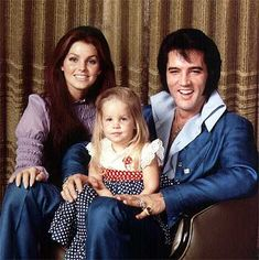 Elvis, Pricilla and Lisa Marie