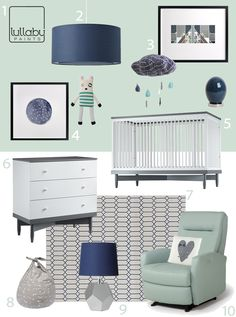 Modern is the popular nursery design choice for expecting moms in 2019 My Modern Nursery Cool and Calm in Aqua and Navy Navy Nursery, Nursery Modern, Nursery Neutral, Nursery Room, Mint Green Nursery, Green Aqua, Bed Room, Purple, Decoration Inspiration
