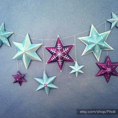 printable party decorations set of 9 printable stars diy by pitoti - Frozen Halloween Decorations