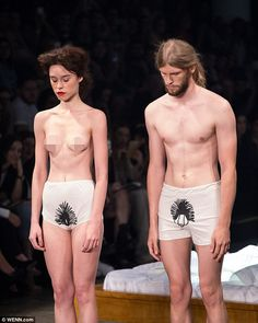 Ronaldo Fraga has male and female models strip at São Paolo Fashion Week 2015 | Daily Mail Online