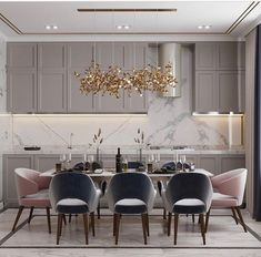 38 Modern room and interior design. Clean lines and muted soft colors ~ Home of Magazine Luxury Kitchen Design, Modern Interior Design, Interior Design Living Room, Living Room Decor, Luxury Dining Room, Dining Room Design, Dining Rooms, Dining Area, Luxury Home Decor