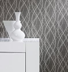 Glossy Collection - Wallpaper with black waves