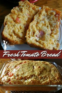 Could You Eat Pizza With Sort Two Diabetic Issues? Delicious And Easy Bread Recipe Using Fresh Tomatoes. Incredible Way To Use Up Garden Tomatoes. Easy Bread Recipes, Great Recipes, Cooking Recipes, Favorite Recipes, Bread Machine Recipes, Popular Recipes, Yummy Recipes, Authentic Mexican Desserts, Fresh Tomato Recipes