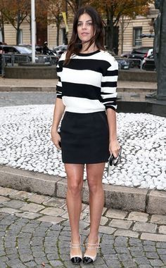Julia Restoin Roitfeld from Street Style: Sweater Weather - Total Street Style Looks And Fashion Outfit Ideas