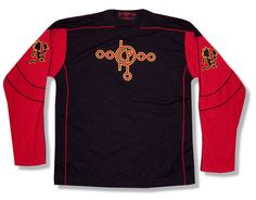 INSANE CLOWN POSSE ICP JUGGALO RED BLACK L/S HOCKEY JERSEY SHIRT NEW OFFICIAL L