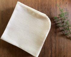 Serviettes Unpaper biologiques, en coton bio écru piqué Unpaper serviettes, serviettes Unpaper réutilisables, serviettes en papier réutilisable, SET DE 24