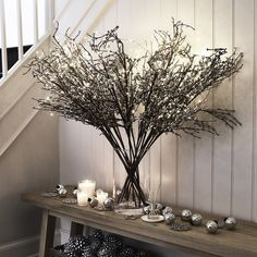 Sparkle Bud Branch | Christmas Room Decorations | Christmas Decorations | Christmas | The White Company UK