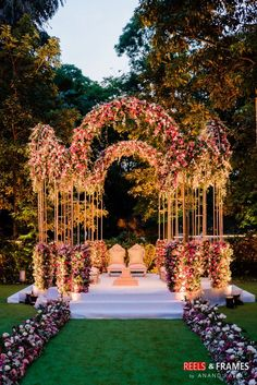 A Super Pretty Bangalore Wedding With Stunning Outfits & A Breathtaking Bridal Entry - stunning mandap decor - Wedding Hall Decorations, Desi Wedding Decor, Wedding Mandap, Wedding Venues, Wedding Ideas, Wedding Cakes, Prom Decor, Wedding Photos, Indian Wedding Planning