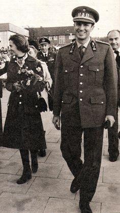 A l'arrivée des souverains à Soest . (1976)