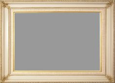 134ea921b5d7 Classic Eggshell Picture Frame With Gold Tones   A Natural Linen Liner.