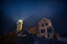 Alcatraz Lighthouse during the Un-Thanksgiving event on Alcatraz. Photo by Scott Sawyer.