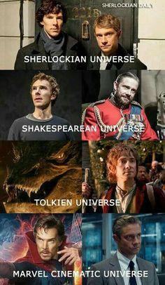 Benedict Cumberbatch and Martin Freeman aka fanfiction crossovers and AUs for years. Johnlock, Baker Street, Sherlock Bbc, Jim Moriarty, Sherlock Quotes, Sherlock Holmes Funny, Watson Sherlock, Sherlock Season, Benedict Sherlock