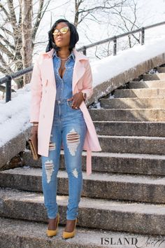 Black Girls Killing It - http://islandchic77.com/2015/02/spring-ready-wearing-the-perfect-pastel-coat/