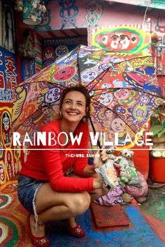 A art lovers guide to the Rainbow Village in Taichung Taiwan. Follow all of my fashionable adventures around the world at Hauteculturefashion.com