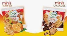 Galletas minis de Flora 1 bolsita de naranja 2pp de chocolate 3pp.