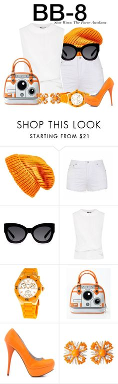 """BB-8 - Star Wars: The Force Awakens"" by nerd-ville ❤ liked on Polyvore featuring Topshop, Ally Fashion, Karen Walker, Invicta, Veda Soul, Miriam Haskell and starwars"