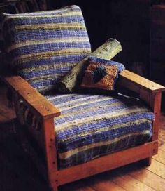 Rag weaving chair cover. I love this!