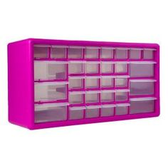 The Original Pink Box, 30-Compartment Parts Organizer in Pink, PB30MPB at The Home Depot - Mobile