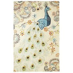 While the cascading tail feathers of the peacock draw your eye, it's our rug's details that truly captivate. Boasting a soft wool-blend construction and durable backing for additional support, our magnificent floor covering offers strength and comfort. Plus, it features a hand-embroidered design, making each piece unique.