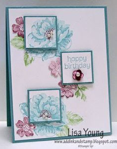 Stamps: Stippled Blossoms, Made for You. Ink: Wild Wasabi, Baja Breeze, Perfect…