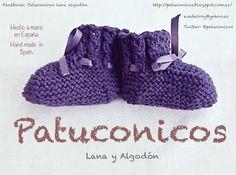 Baby bootieS Patuconicos hand Made in Spain. Botitas bebe Patuconicos hechas a mano en España. https://www.facebook.com/pages/Patuconicos-lana-y-algodón/133197553517428?ref=hl