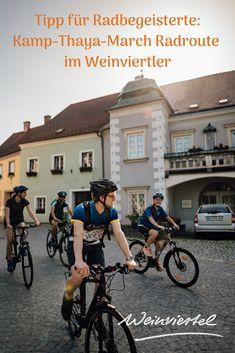 Die Kamp-Thaya-March Radroute ist eine der attraktivsten Radrouten Österreich und folgt drei Flussläufen. Ausgehend von Krems durchradeln Sie Teile des Waldviertels und gelangen anschließend ins sanft-hügelige Weinviertel. Dort geht es von Hardegg  über die Weinstadt Retz nach Laa an der Thaya, um anschließend nach Hohenau an der March und  Hainburg zu gelangen. Ruhe, Beschaulichkeit und idyllische Landschaftszüge prägen diese Radroute. Erfahre mehr ... © Weinviertel Tourisms / Gollner Radler, Bicycle, River, Bicycling, Explore, Other, Bike, Bicycle Kick, Bicycles