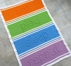 Eat Play Sleep Repeat Baby Blanket Crochet PATTERN - INSTANT DOWNLOAD on Etsy, $5.33 AUD