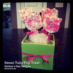 Mothers Day Sweet Tulip Pop Treat http://madamedeals.com/mothers-day-recipe-sweet-tulip-pop-treat/ #recipes #inspireothers