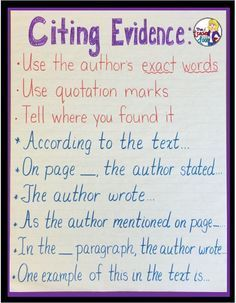 Citing Text Evidence in 6 Steps- Citing Text Evidence in 6 Steps Upper Elementary Snapshots: Citing Text Evidence in 6 Steps - Close Reading Strategies, Reading Comprehension Skills, Writing Strategies, Writing Resources, Writing Skills, Personal Narrative Writing, Informational Writing, Personal Narratives, Common Core Writing