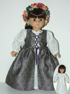 Historical 18 Doll Clothes Pattern for Renaissance by CARPATINA