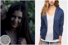 Shop Your Tv: The Vampire Diaries: Season 4 Episode 2 Elena's Blue Hoodie