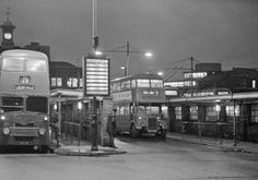 Walsall bus station, a winter's evening Rt Bus, Walsall, Bus Coach, Bus Station, West Midlands, Local History, The Good Old Days, Public Transport, Coaches
