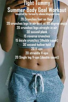Tight Tummy, every women wish for their summer body goal, just check their workout plan
