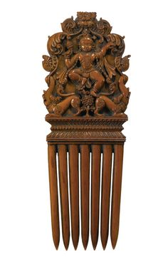 A carved ivory comb depicting Krishna, South India, 17th-18th century. Part of the Sven Gahlin Collection, which Sotheby's will be auctioning off on October 9, 2015.