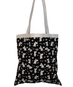 Muumi ostoslaukku, musta-valkoinen 19,90€