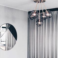 Design by Us Ballroom Molecule Loftlampe Pink & Guld - Køb her!