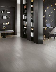 Grès cérame aux suggestions métallisées et aux inspirations géométriques pour un espace bureau dans la maison | Tanguy